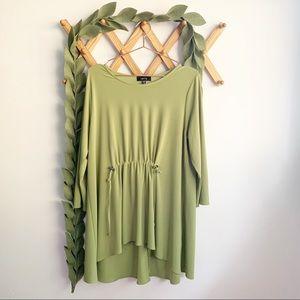 Comfy U.S.A. Chartreuse Green Tunic